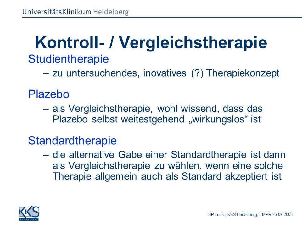 Kontroll- / Vergleichstherapie