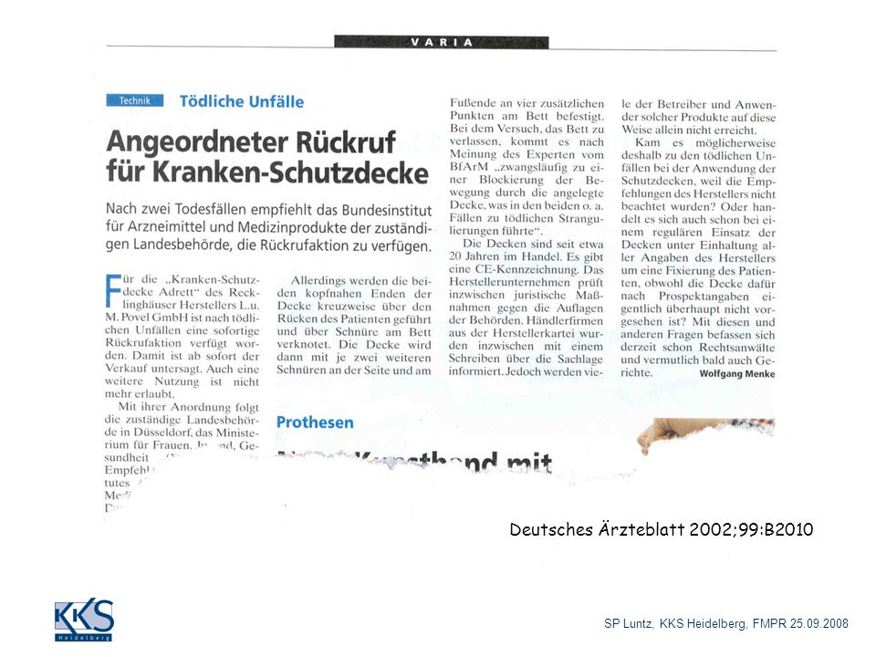 Deutsches Ärzteblatt 2002;99:B2010