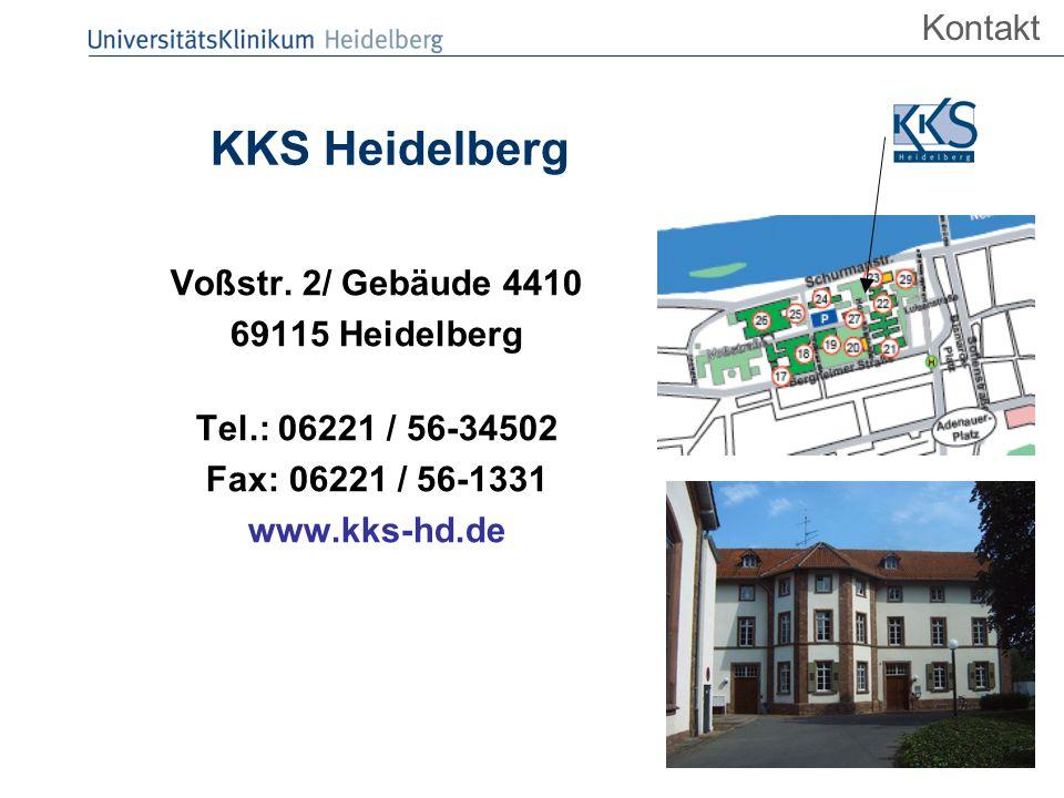 KKS Heidelberg Kontakt Voßstr. 2/ Gebäude 4410 69115 Heidelberg