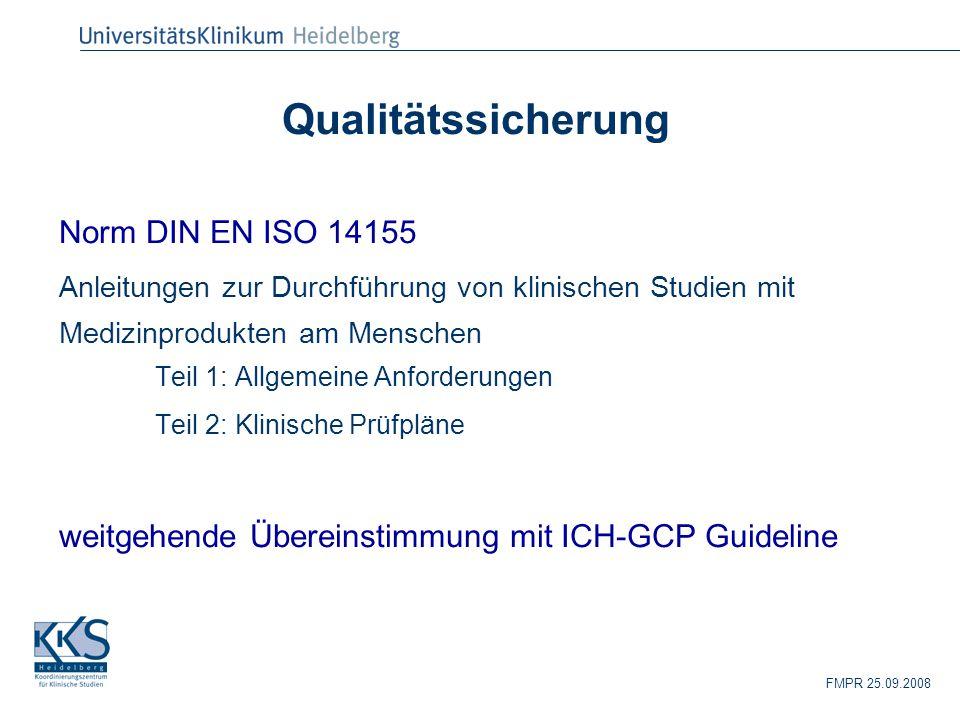 Qualitätssicherung Norm DIN EN ISO 14155