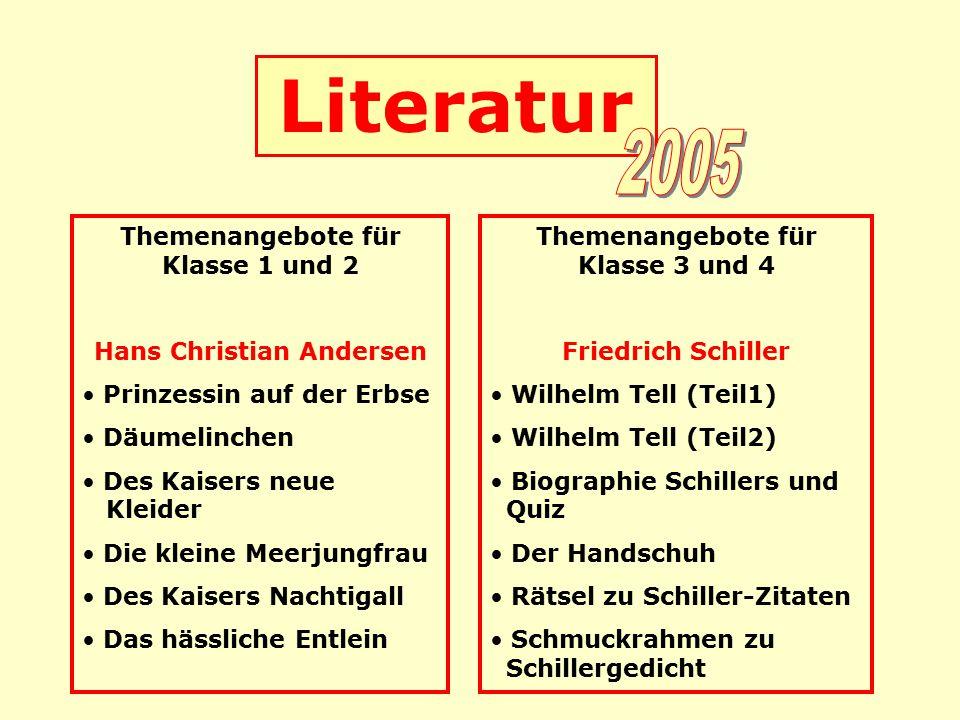 Literatur 2005 Themenangebote für Klasse 1 und 2