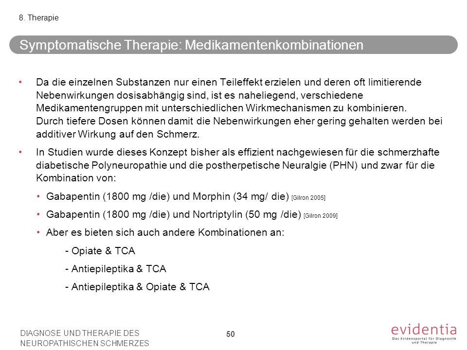 Symptomatische Therapie: Medikamentenkombinationen