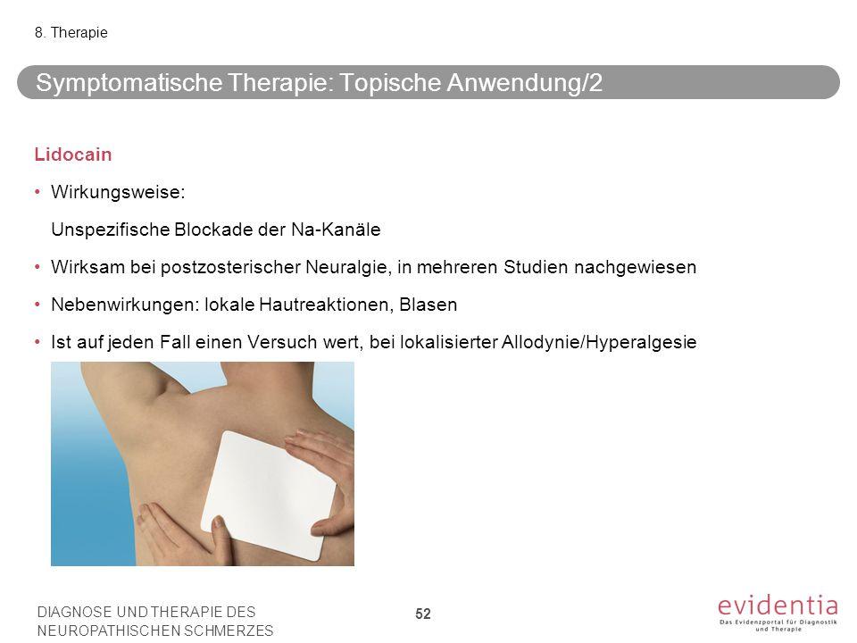 Symptomatische Therapie: Topische Anwendung/2