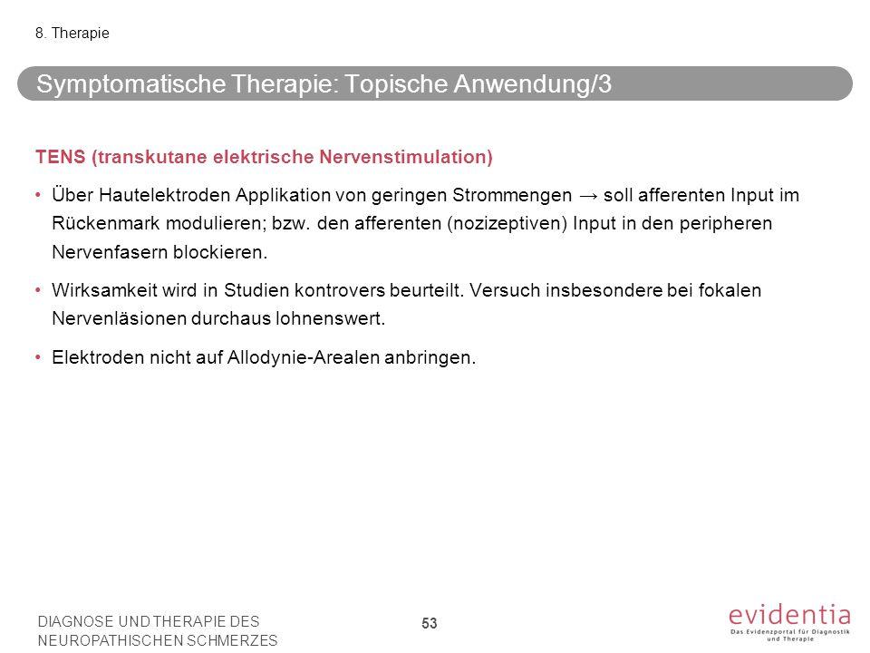 Symptomatische Therapie: Topische Anwendung/3