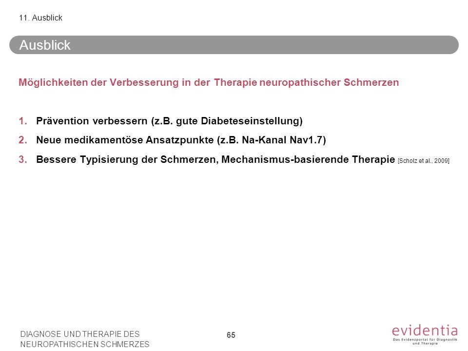 11. Ausblick Ausblick. Möglichkeiten der Verbesserung in der Therapie neuropathischer Schmerzen.