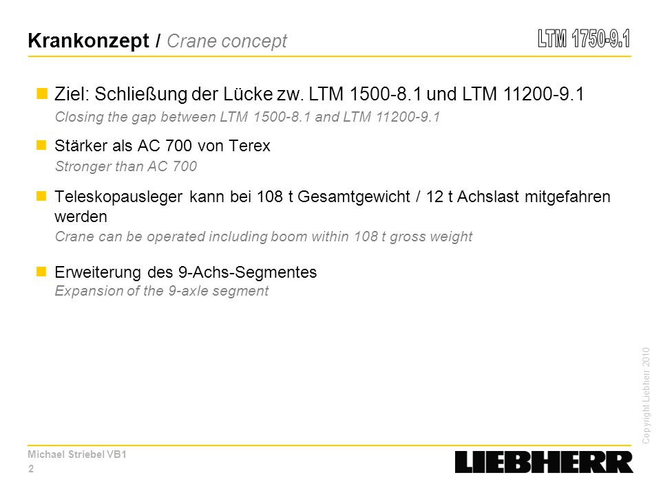 Krankonzept / Crane concept