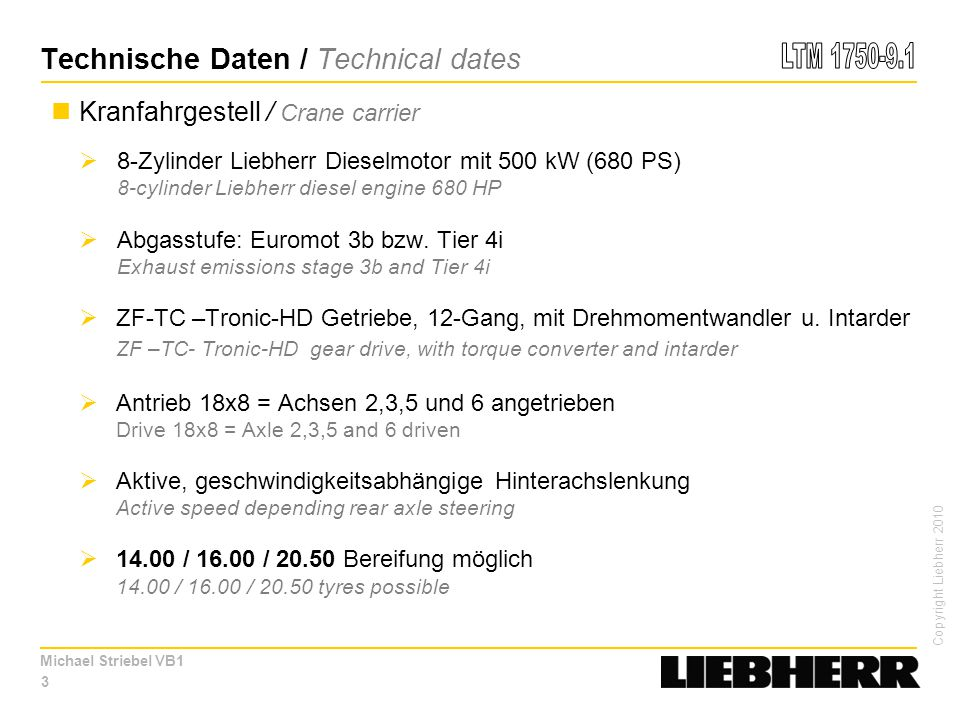 Technische Daten / Technical dates