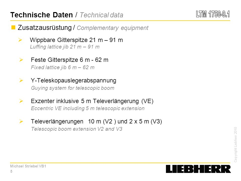 Technische Daten / Technical data