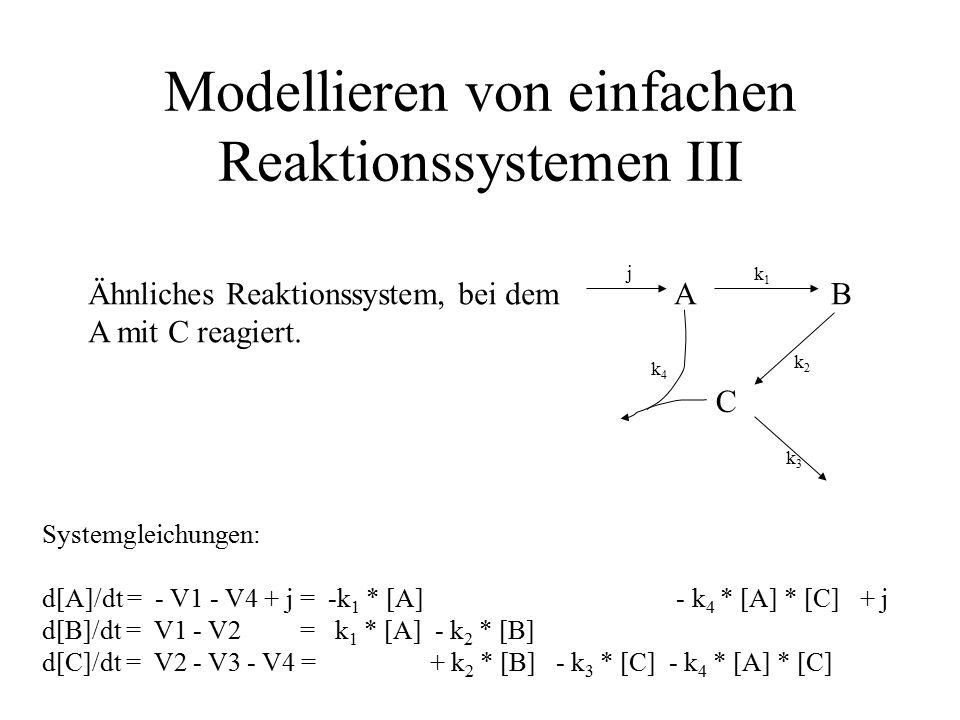 Modellieren von einfachen Reaktionssystemen III