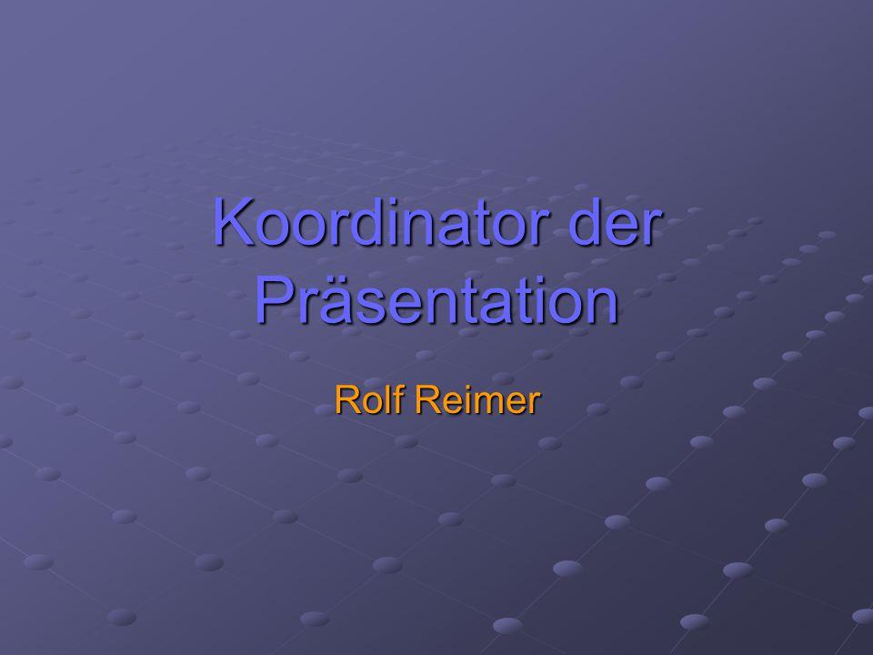 Koordinator der Präsentation