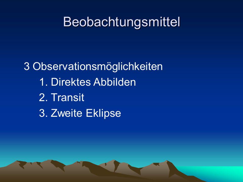 Beobachtungsmittel 3 Observationsmöglichkeiten 1. Direktes Abbilden