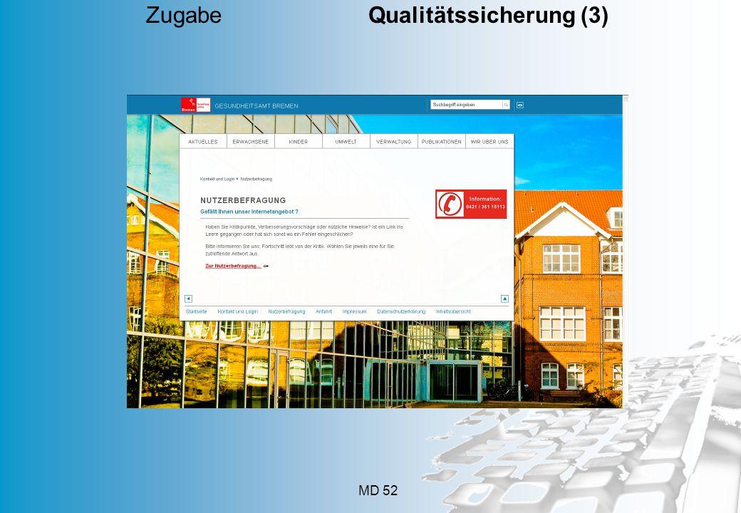 Zugabe Qualitätssicherung (3)