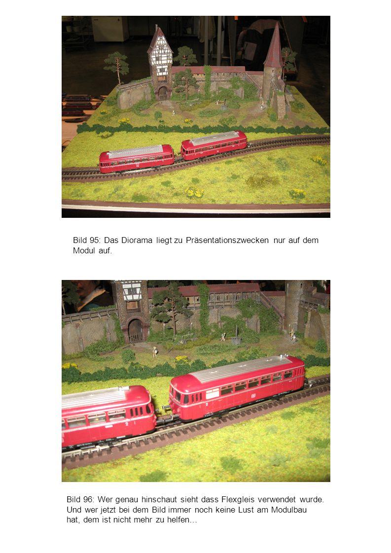 Bild 95: Das Diorama liegt zu Präsentationszwecken nur auf dem Modul auf.