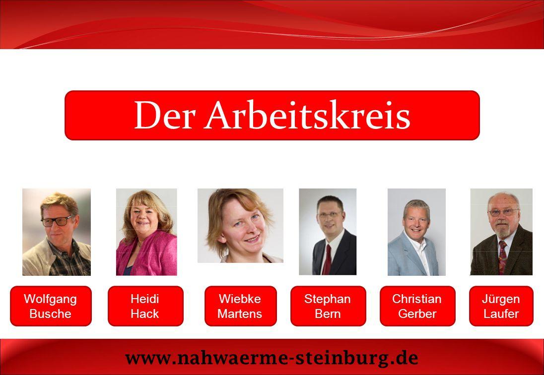 Der Arbeitskreis www.nahwaerme-steinburg.de Wolfgang Busche Heidi Hack