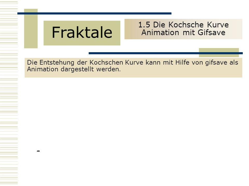 1.5 Die Kochsche Kurve Animation mit Gifsave