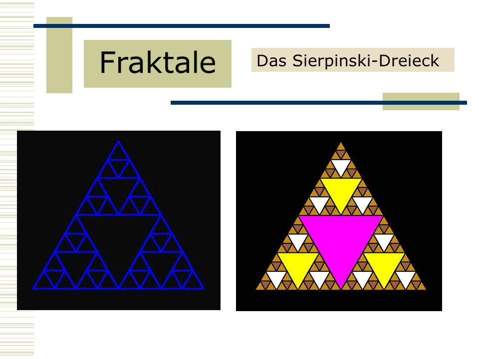 Fraktale Das Sierpinski-Dreieck