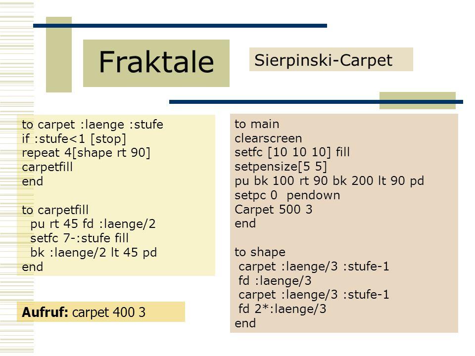 Fraktale Sierpinski-Carpet Aufruf: carpet 400 3