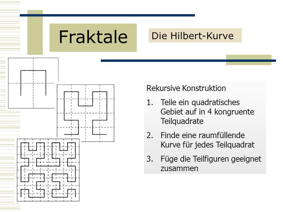 Fraktale Die Hilbert-Kurve Rekursive Konstruktion