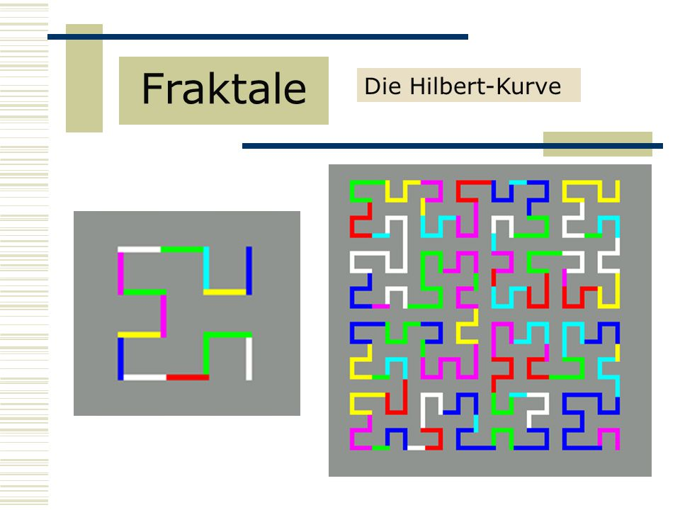 Fraktale Die Hilbert-Kurve