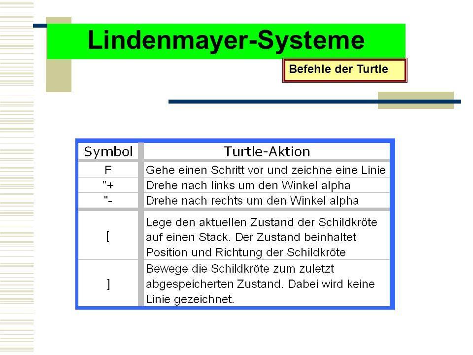 Lindenmayer-Systeme Befehle der Turtle