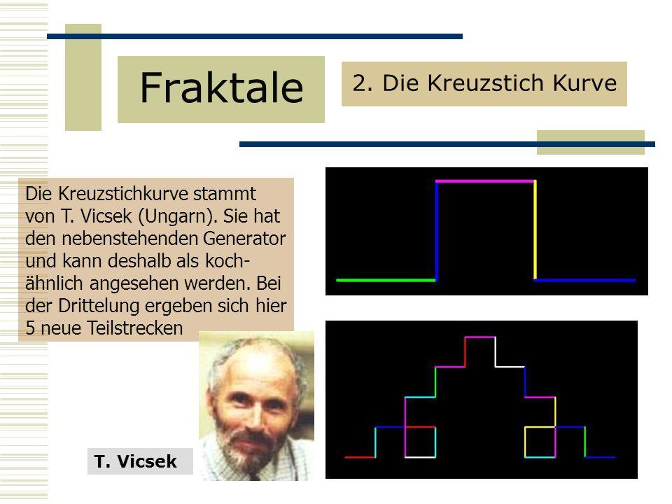 Fraktale 2. Die Kreuzstich Kurve