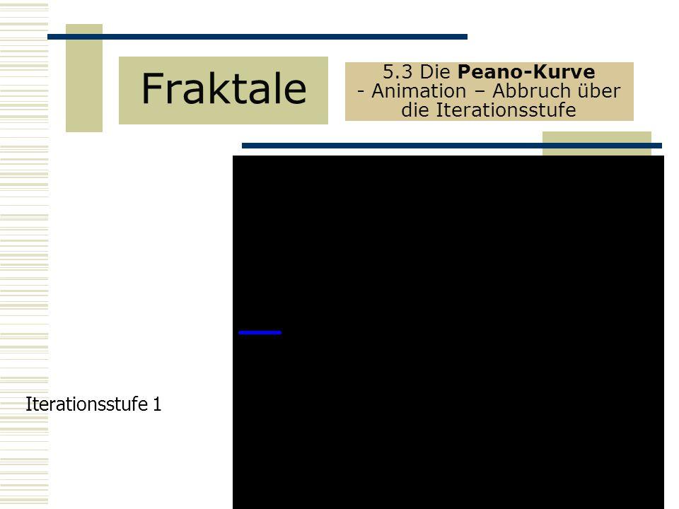 5.3 Die Peano-Kurve - Animation – Abbruch über die Iterationsstufe