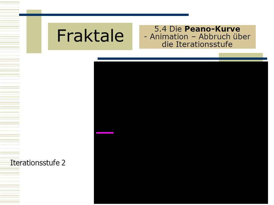 5.4 Die Peano-Kurve - Animation – Abbruch über die Iterationsstufe