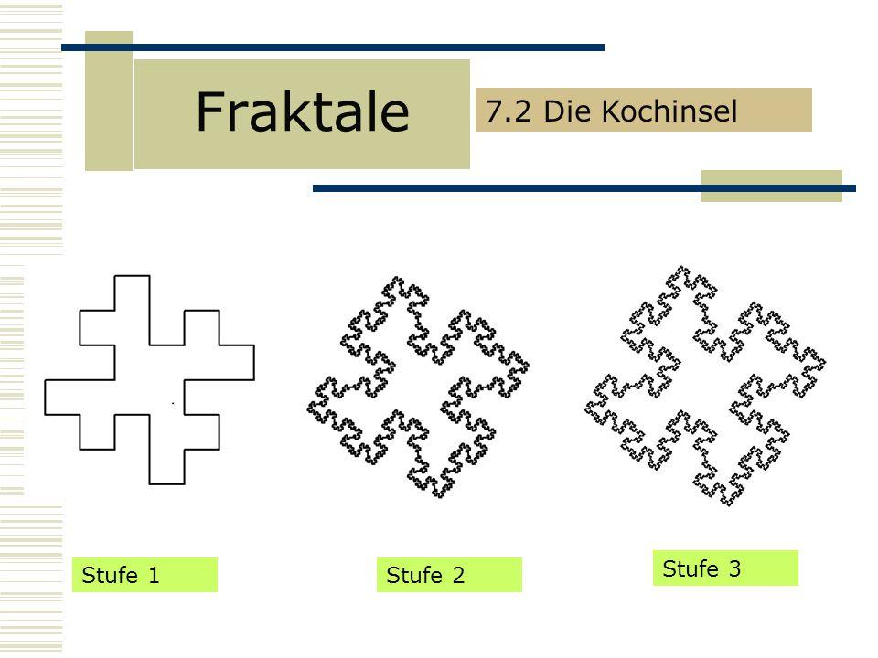 Fraktale 7.2 Die Kochinsel Stufe 3 Stufe 1 Stufe 2