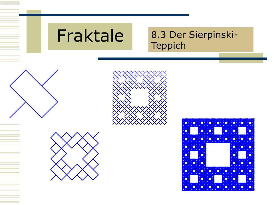 Fraktale 8.3 Der Sierpinski-Teppich