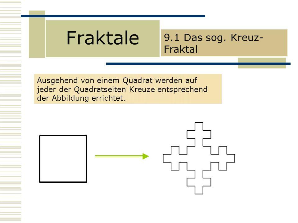 Fraktale 9.1 Das sog. Kreuz-Fraktal
