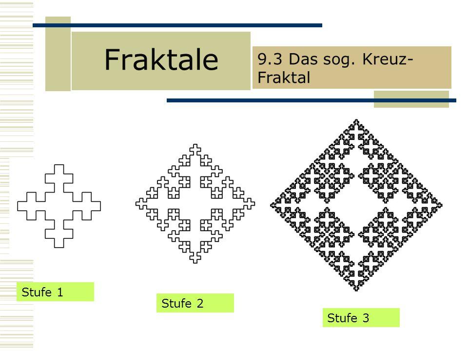 Fraktale 9.3 Das sog. Kreuz-Fraktal Stufe 1 Stufe 2 Stufe 3