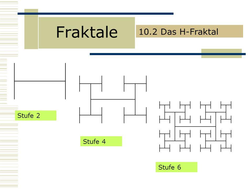 Fraktale 10.2 Das H-Fraktal Stufe 2 Stufe 4 Stufe 6