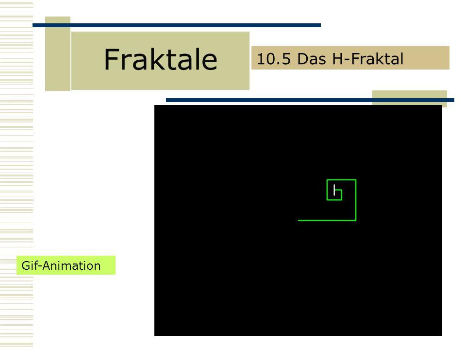 Fraktale 10.5 Das H-Fraktal Gif-Animation