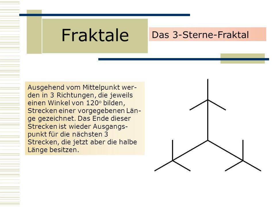Fraktale Das 3-Sterne-Fraktal