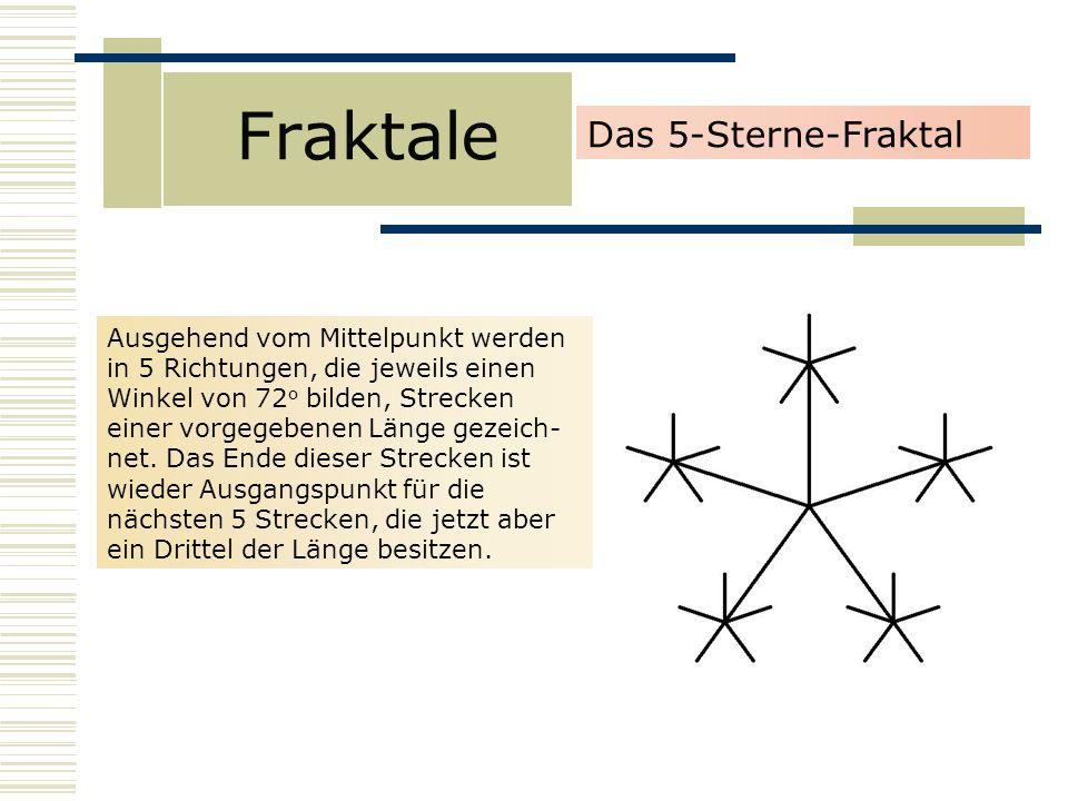 Fraktale Das 5-Sterne-Fraktal