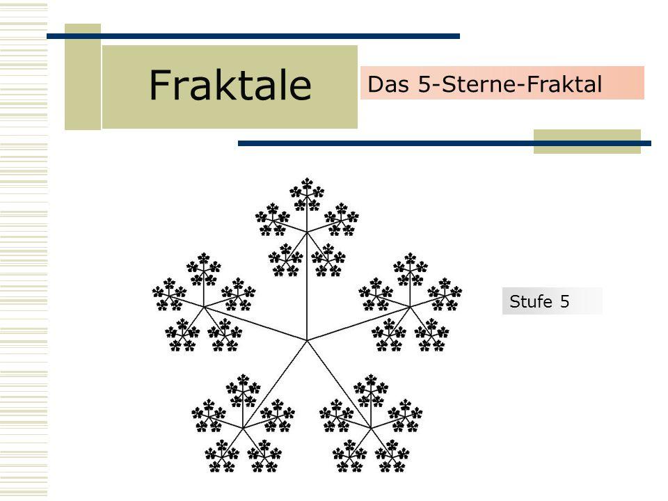Fraktale Das 5-Sterne-Fraktal Stufe 5
