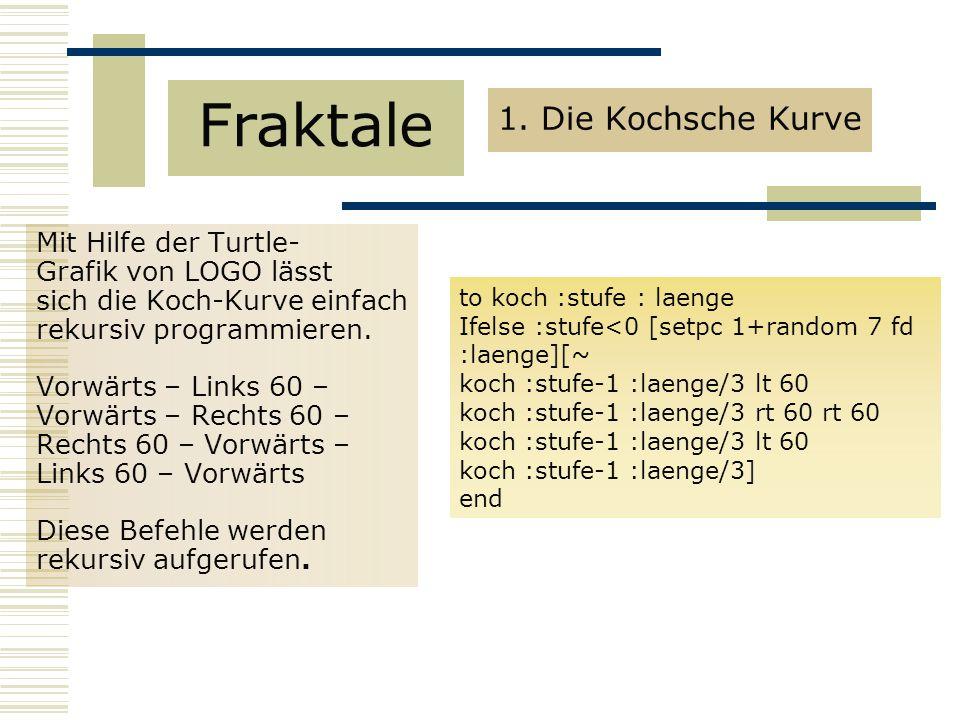 Fraktale 1. Die Kochsche Kurve Mit Hilfe der Turtle-
