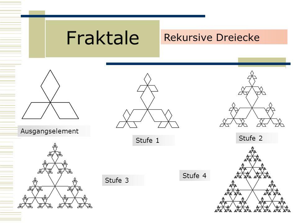 Fraktale Rekursive Dreiecke Ausgangselement Stufe 2 Stufe 1 Stufe 4