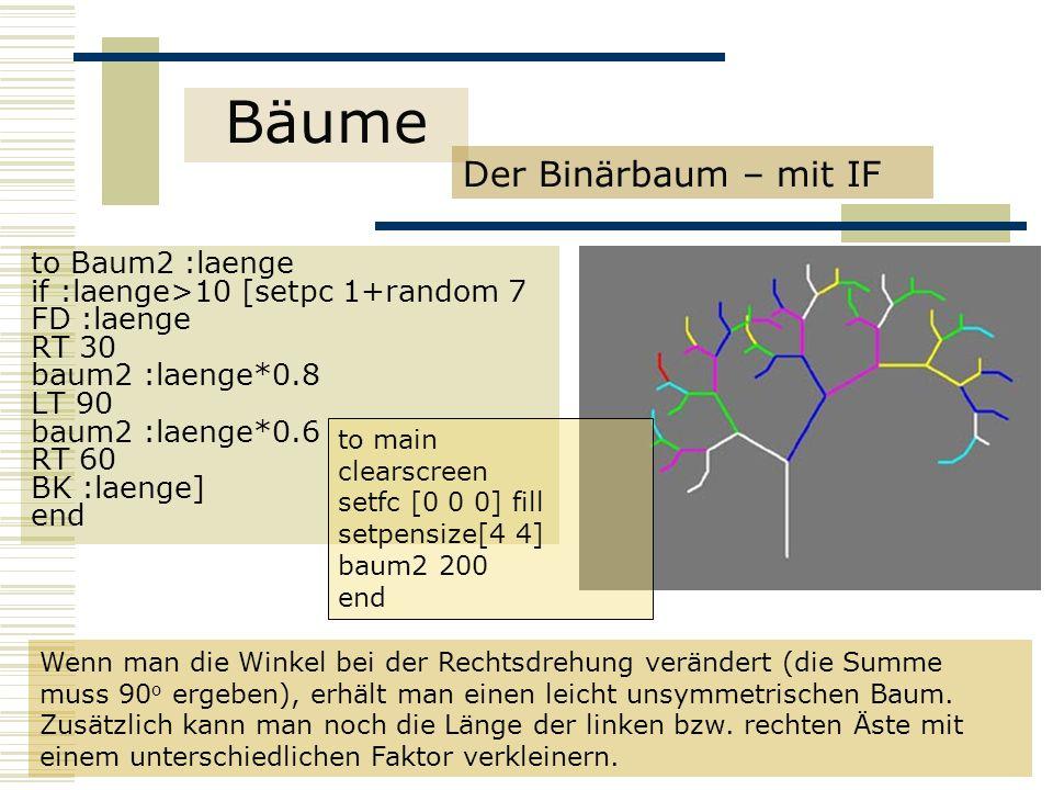Bäume Der Binärbaum – mit IF to Baum2 :laenge