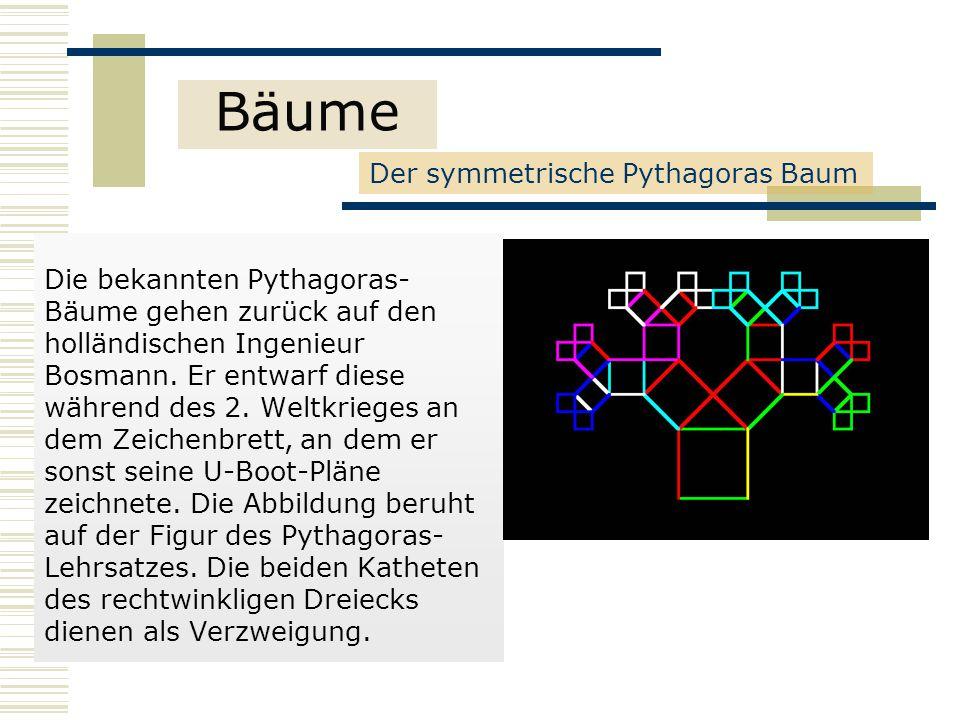 Bäume Der symmetrische Pythagoras Baum