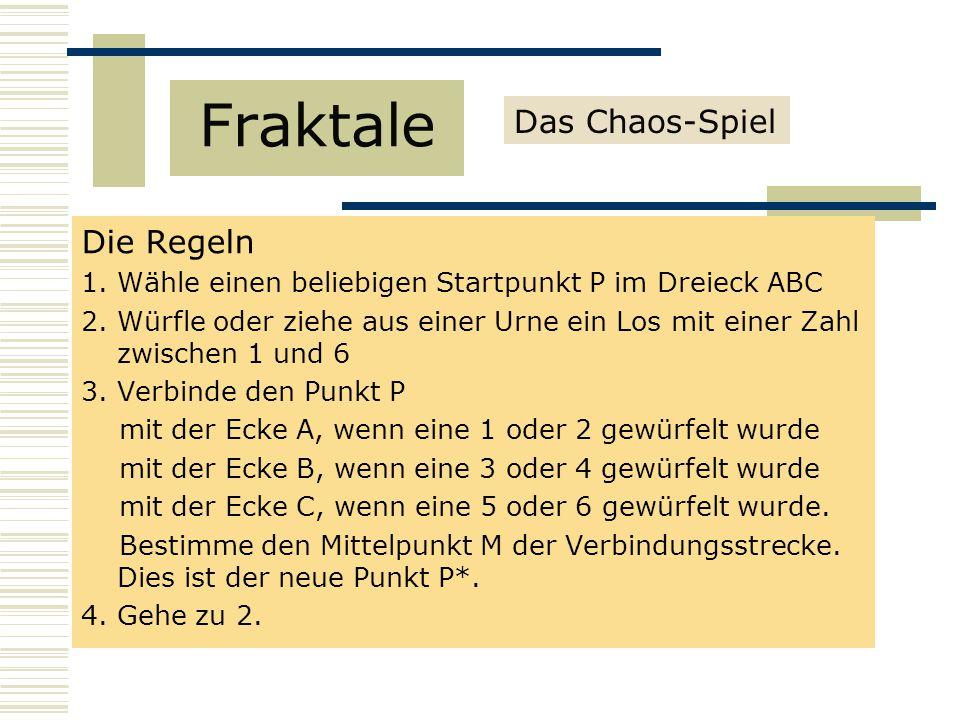 Fraktale Das Chaos-Spiel Die Regeln
