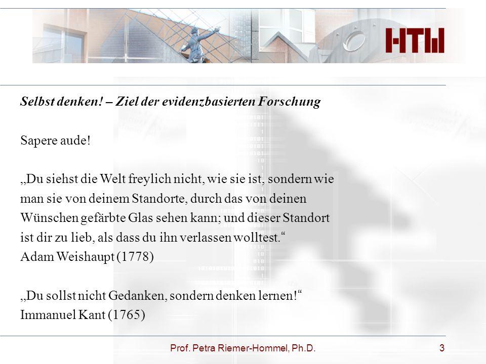 Prof. Petra Riemer-Hommel, Ph.D.