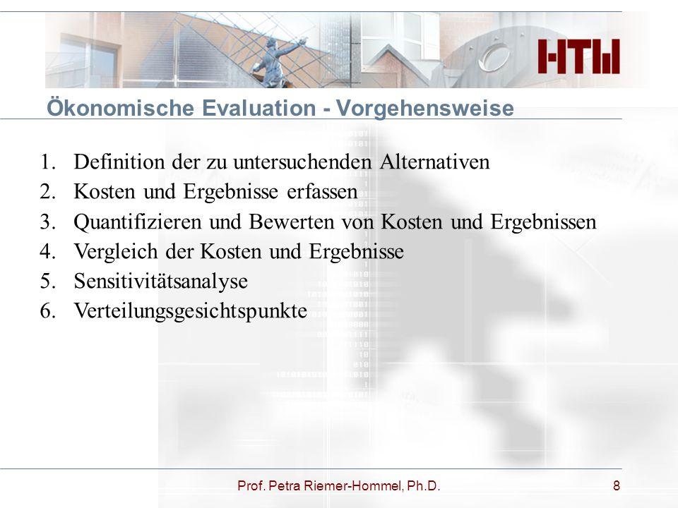 Ökonomische Evaluation - Vorgehensweise