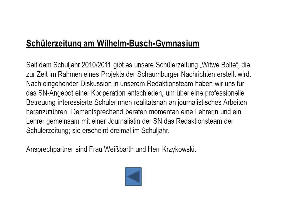 Schülerzeitung am Wilhelm-Busch-Gymnasium