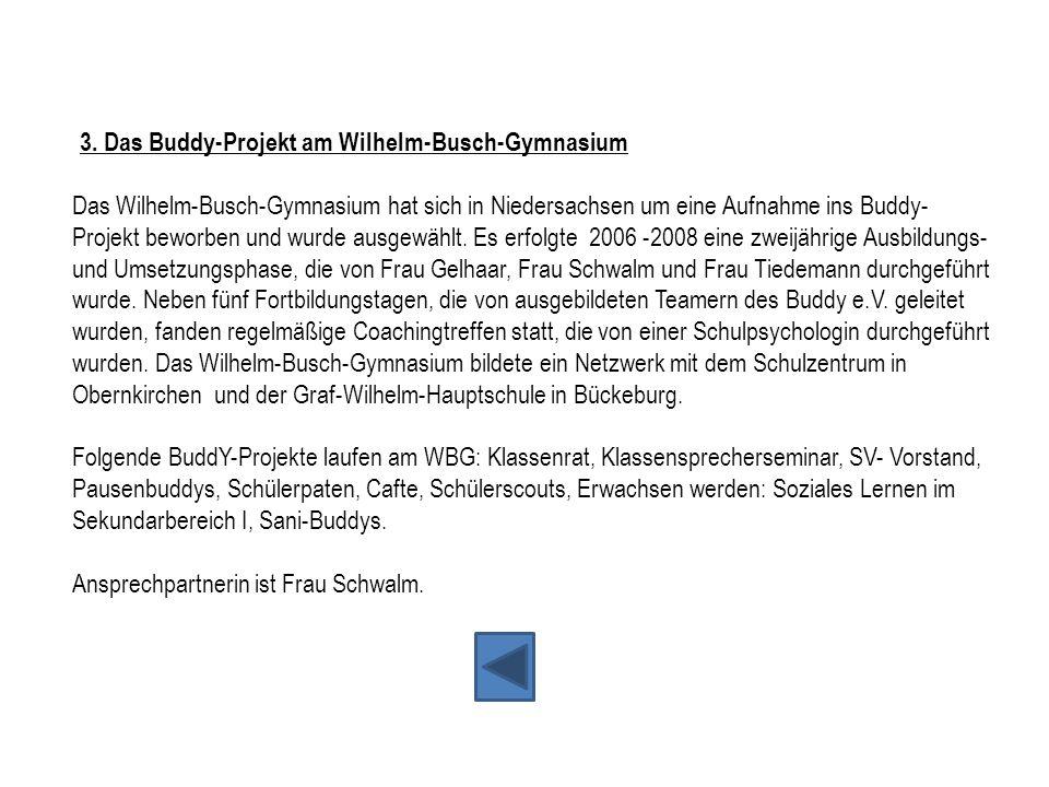 3. Das Buddy-Projekt am Wilhelm-Busch-Gymnasium