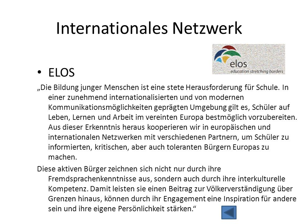 Internationales Netzwerk