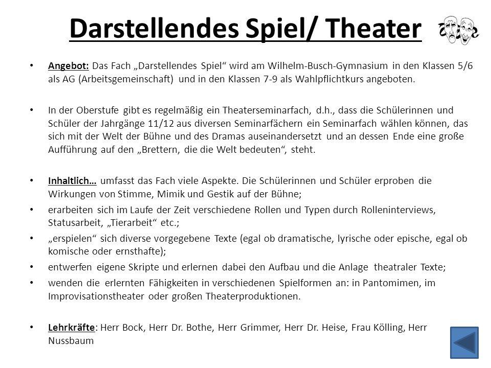 Darstellendes Spiel/ Theater