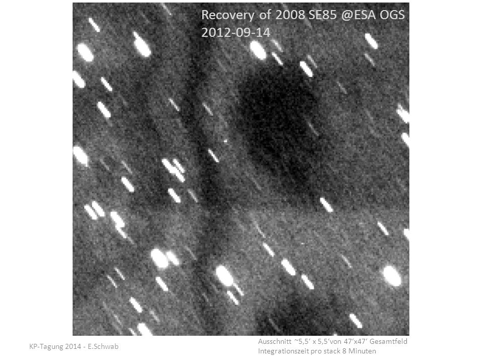 Recovery of 2008 SE85 @ESA OGS 2012-09-14