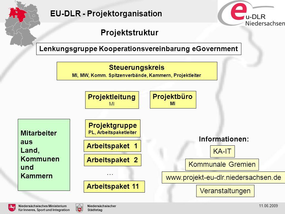 EU-DLR - Projektorganisation