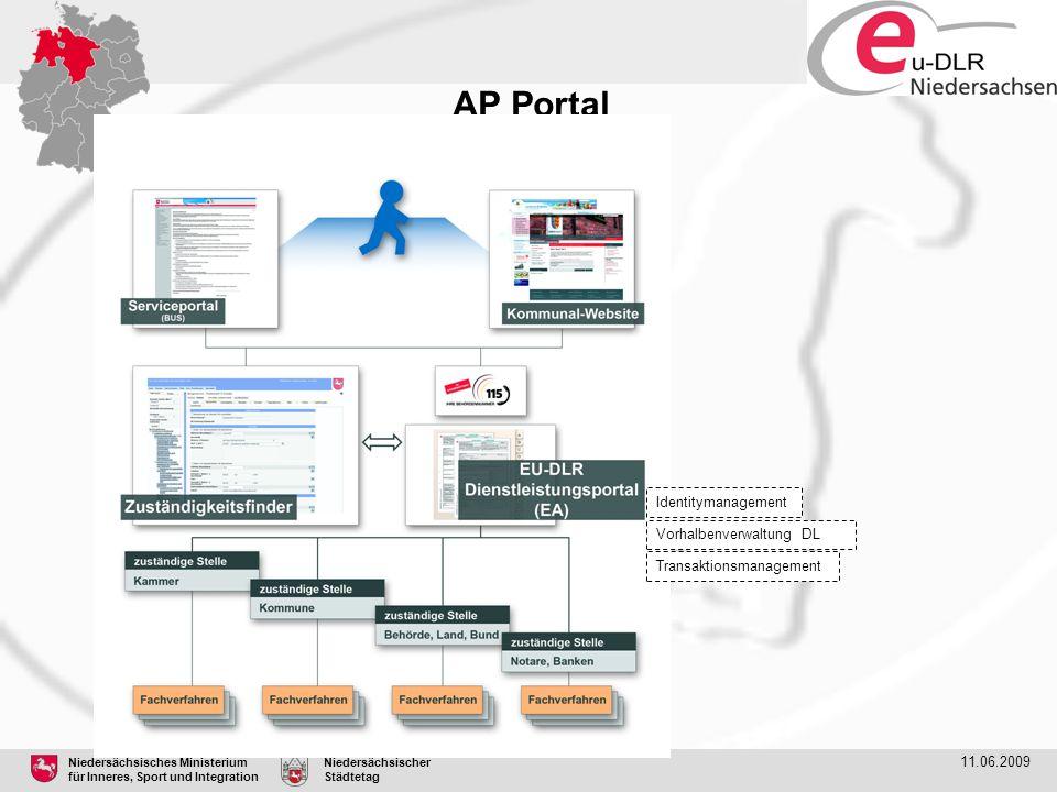 AP Portal Identitymanagement Vorhalbenverwaltung DL